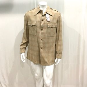 Pendleton Mens Beige Vintage Wool Shirt